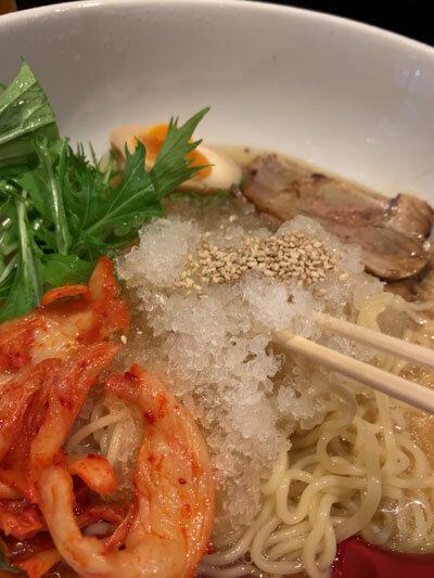 姫路 麺や 六三六 にぼし冷麺 氷