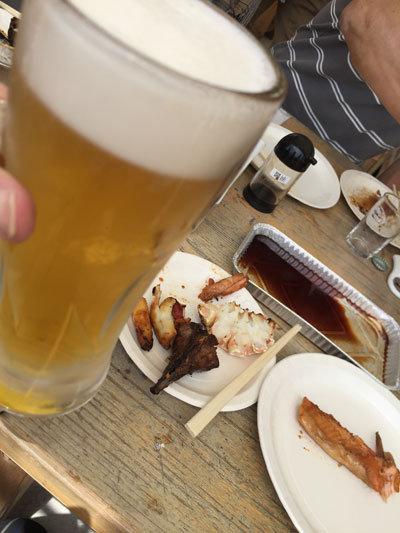 姫路 とれとれ市場 BBQ 生ビール