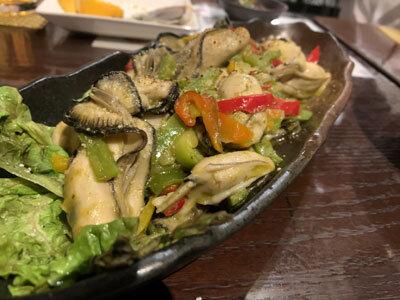 赤穂 牡蠣 かましま バジル炒め