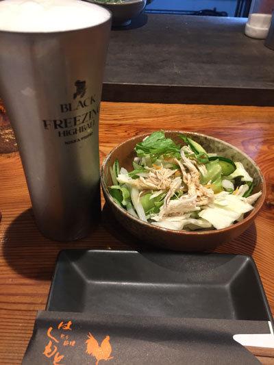 姫路 野里 とり料理 はしもと 生ビール