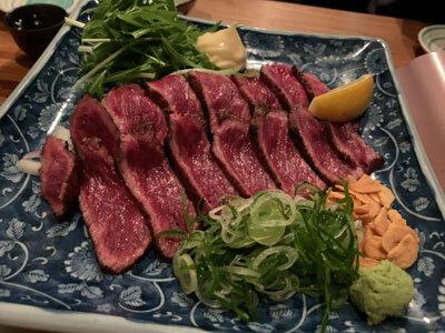 明石 麺や 一福 牛タタキ