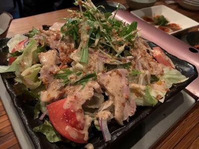 明石 麺や 一福 鳥サラダ