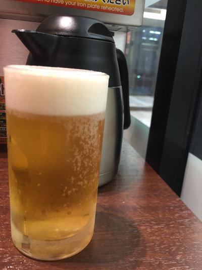 姫路 いきなりステーキ 生ビール