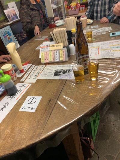 西明石 立呑み 地酒 テーブル