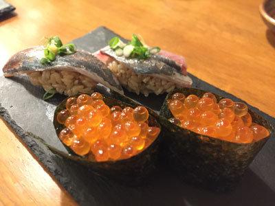 姫路 酒肴 魚寿司 ウニ 鯵