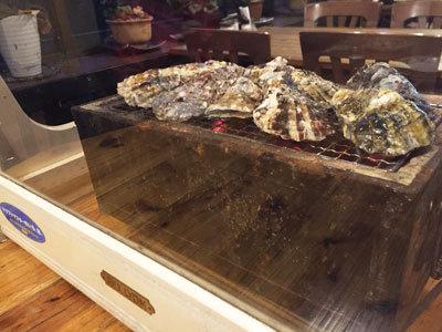 赤穂 レストラン 初音 焼き牡蠣