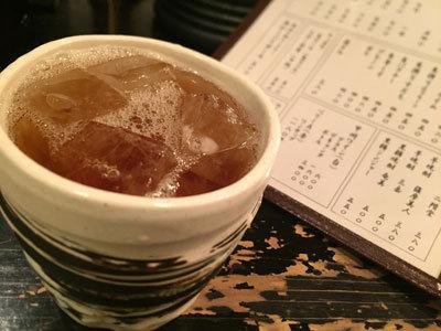 神戸 貝汁そば ボンゴレ亭 麦焼酎ウーロン茶割