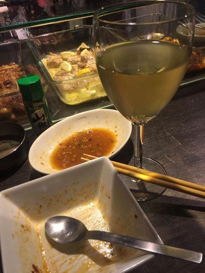 姫路 立吞み Amsroom115 白ワイン