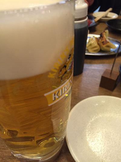 姫路 立呑み 鶴亀八番 生ビール-