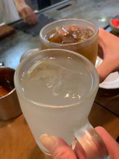 神戸 お好み焼 ひかり 乾杯