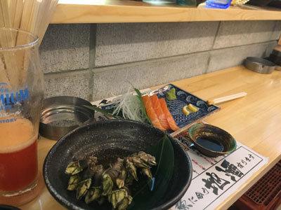 姫路 山陽電車高架下 立ち飲み 魚屋 珍味亀の手