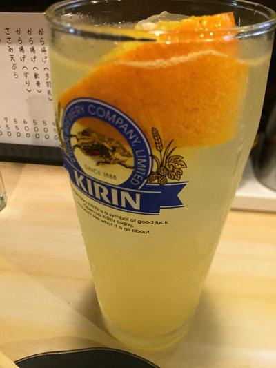 姫路 焼き鳥 西井の焼鳥一番 チューハイ オレンジ