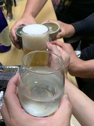 垂水 立呑み 若汐 乾杯
