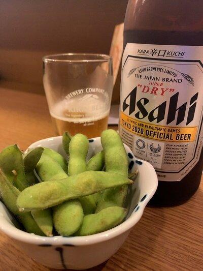 姫路 焼き鳥 ふく鳥 瓶ビール