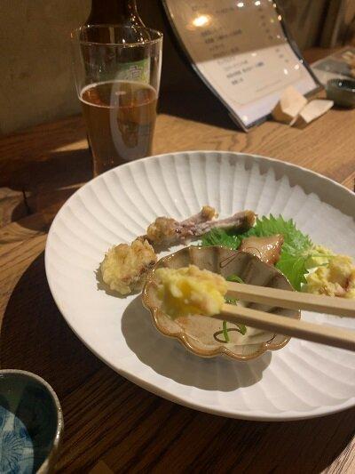 有馬温泉 Fish house cafe ポテトサラダ