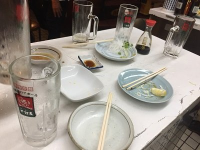 新梅田食堂街 立呑み 大阪屋 朝ご飯