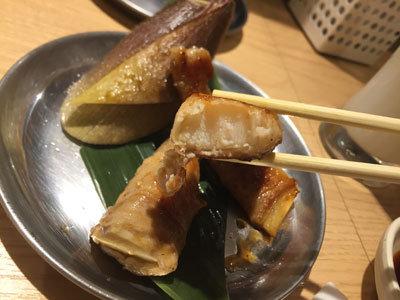 姫路 立呑み 卯の助 竹の子豚巻