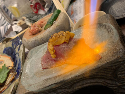姫路 居酒屋 魚っと 炙り寿司
