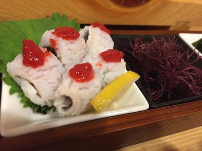 姫路 立喰い 寿司 魚路 ハモ
