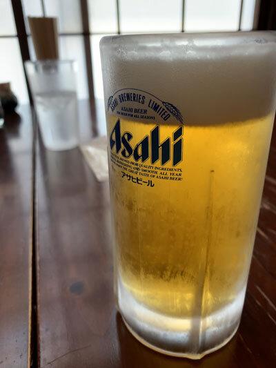 鳥取 市場料理 賀露幸 生ビール