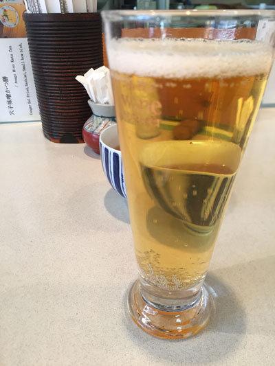 姫路 まちなかバル 2017 あなご料理 杉本 生ビール