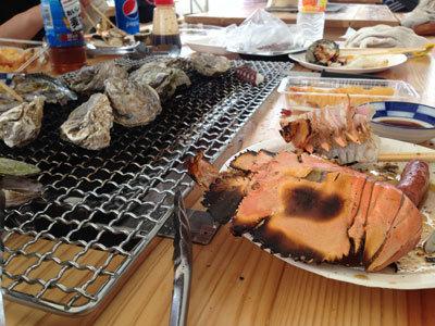 姫路 妻鹿漁港 とれとれ市場 BBQ