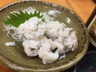 姫路 お食事処 福十食堂 ハモ湯引き