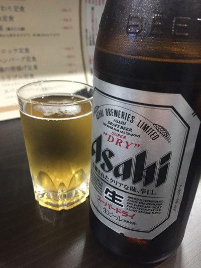 姫路 居酒屋 楽笑家 瓶ビール