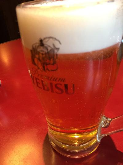 姫路 紅宝石 中華 お疲れ様セット 生ビール