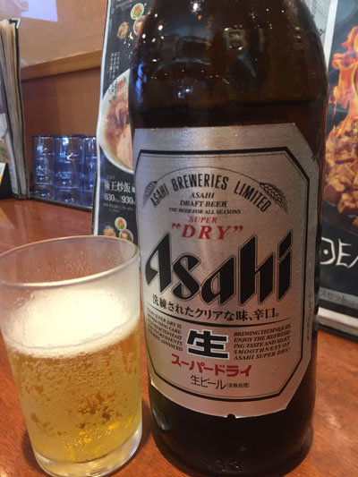 餃子の王将  ビエラ姫路駅東口店 大瓶ビール
