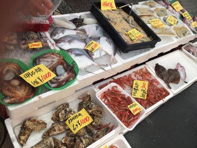 明石 魚の棚商店街 昼網
