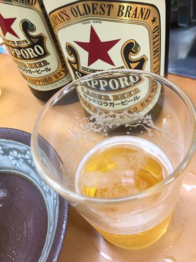 姫路 福十食堂 サッポロラガー
