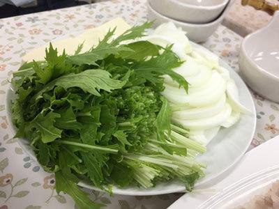 姫路 あけぼのストアー 鱧鍋 野菜