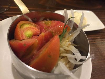 姫路 ワインバル kagen 竹田農場のトマト オニスラ