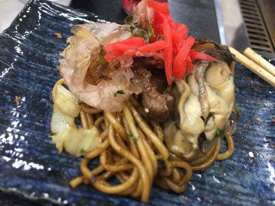 姫路 網干 牡蠣鉄板 matsumoto 焼きそば