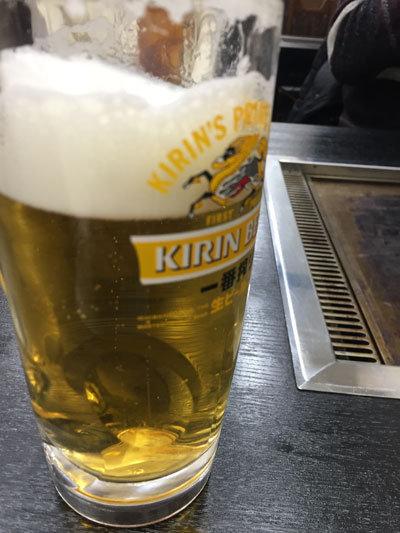 姫路 網干 牡蠣鉄板 matsumoto 生ビール