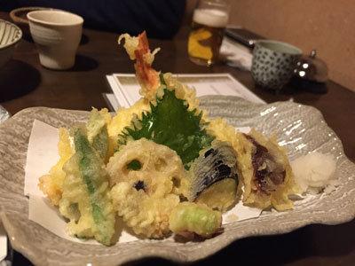 姫路 手打そば のりくら 天ぷら盛合せ