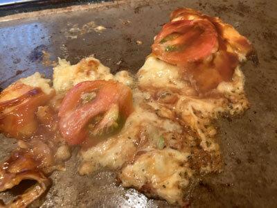 姫路 妻鹿 お好み焼き えのき チーズトマト