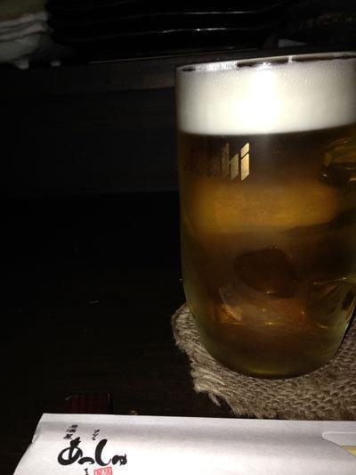 姫路 居酒屋 あっしゅ 生ビール