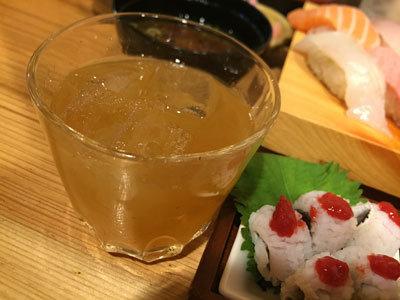 姫路 立喰い 寿司 魚路 梅酒ロック