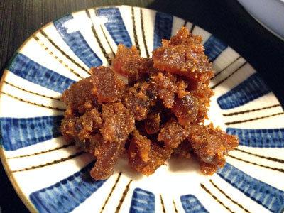 姫路 ラオス食堂 水牛の皮ピリ辛味噌