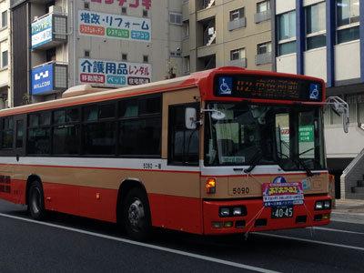 明石 市役所行きバス