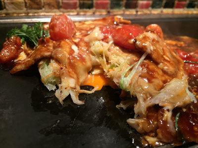 姫路 お好み焼き 京ちゃばな トマトのお好み焼き