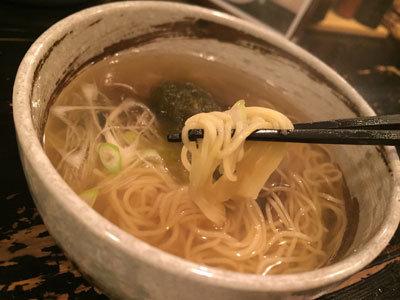 神戸 ラーメン ボンゴレ亭 貝汁そば 細麺