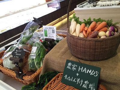 ヤマサ蒲鉾 夢乃そば 地元の野菜