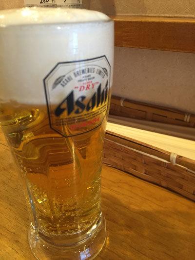 姫路 立ち吞み かめきち 生ビール