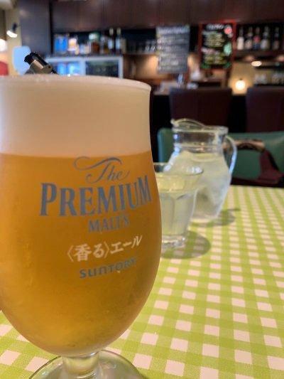 大阪 阿倍野 クッチーナ ベッリーノ 生ビール