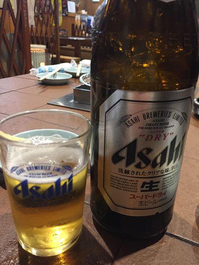 神戸 新長田 炭火焼肉 のぎく 瓶ビール