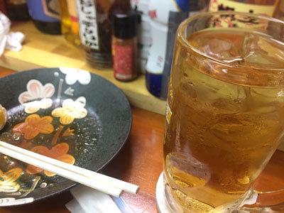 姫路 亀山 立吞み こんぶや 麦焼酎 ウーロン割り