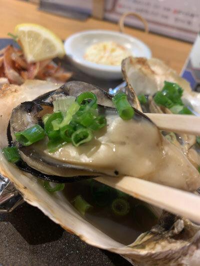 姫路 貝屋 マルホウ 浜焼き 牡蠣